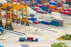 Singapoe port. Work in progress Stock Photos