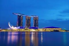 """SINGAPORE †""""9 December, 2017: De nieuwe Marina Bay Sands-toevlucht Stock Afbeeldingen"""