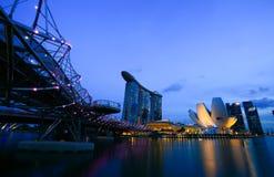 Singapore är världens fjärde ledande finansiellt centrerar Royaltyfria Foton