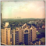 Singapore ö - stadsbyggnader Arkivfoton