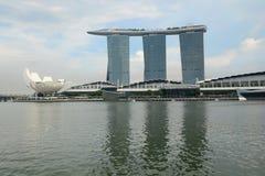 SINGAPORE-15 2014年11月:小游艇船坞海湾铺沙度假旅馆 库存图片