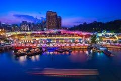 Singapore - 22 giugno 2012 - banchina di Clarke il posto più famoso FO immagini stock libere da diritti