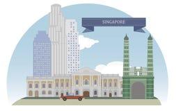 Singapore vektor illustrationer