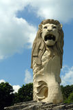 Singapore. Merlion in sentosa island Royalty Free Stock Photo