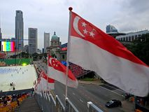 Singapore 45th National Day Celebration. Singapore will be celebrating her 45th Birthday at The Padang on 9th August 2010. Ideal for publications/ news/ reports Stock Photography