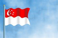 Singapore. National flag of Singapore Royalty Free Stock Image
