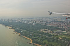 Singapore aerial view Royalty Free Stock Photo