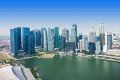 Singapore aerial view Royalty Free Stock Image