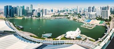 Singapore aerial view Royalty Free Stock Photo