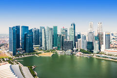 Singapore aerial view Stock Photos