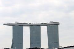 Singapore - 10 agosto 2013: Fine di Marina Bay Sands su Fotografie Stock