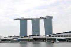 Singapore - 10 agosto 2013: Marina Bay Sands Immagini Stock Libere da Diritti