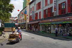 La Chinatown di Singapore Immagine Stock