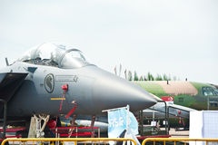 Singapore Air Force planes at Singapore Airshow 2014 Royalty Free Stock Photography