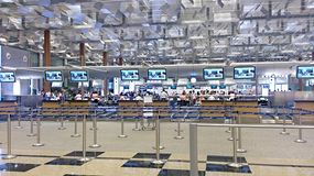 Singapore airline check-in counters Royalty Free Stock Image
