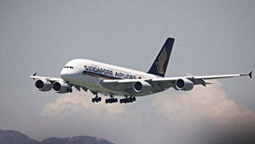 Singapore Airline A380 Stock Photography