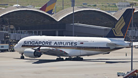 Singapore Airline A380 Royalty Free Stock Photography