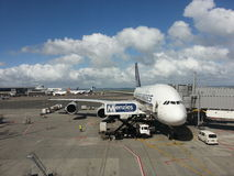 Singapore Airlines A380 Royaltyfri Foto