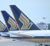 Singapore Airlines stock afbeelding