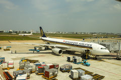 Singapore Airlines Fotografia Stock Libera da Diritti