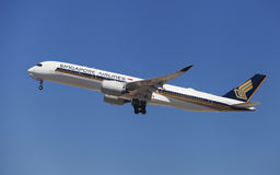 Singapore Airlines Aerobus A350-900 zdjęcie royalty free