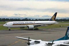 Singapore Airlines B777 Images stock
