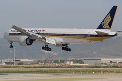 Singapore Airlines Boeing Stock Afbeeldingen