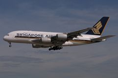 Singapore Airlines Boeing Stock Afbeelding