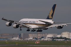 Singapore Airlines Boeing Photo libre de droits