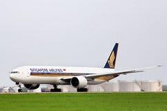 Singapore Airlines Boeing 777 Images libres de droits