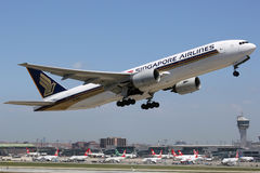 Singapore Airlines Boeing 777-200 Fotografia Stock