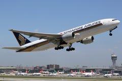 Singapore Airlines Boeing 777-200 Fotografia Stock
