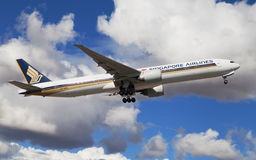 Singapore Airlines Boeing 777 fotografia royalty free