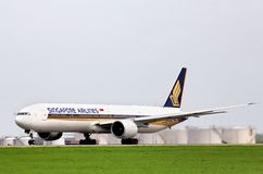 Singapore Airlines Boeing 777 Royalty Free Stock Images