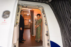 Singapore Airlines crew Royalty Free Stock Image