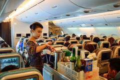 Singapore Airlines załoga Obraz Royalty Free