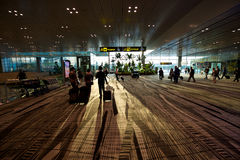 Singapore Airport Early Departure Stock Photography