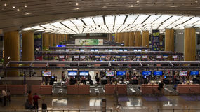 Singapore Airport Terminal Check-in Counters Royalty Free Stock Photo
