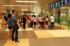 Singapore: Airport waiting Royalty Free Stock Photo