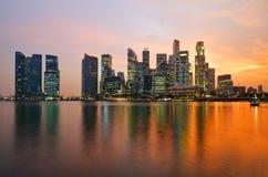 Singapore al tramonto Immagini Stock