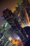 Singapore alla notte Fotografia Stock