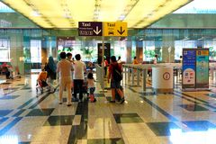 Singapore: Andare a casa Fotografie Stock