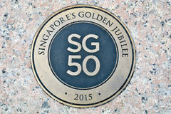 Singapore 50 anni Fotografia Stock