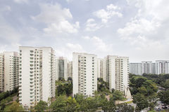 Singapore Apartment Housing stock photography