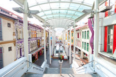 SINGAPORE - APRIL 21: Located within the larger district of Outr. Am, Singapore's Chinatown is an ethnic neighbourhood featuring distinctly Chinese cultural stock photography