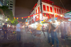 SINGAPORE - APRIL 23: Located within the larger district of Outr. Am, Singapore's Chinatown is an ethnic neighbourhood featuring distinctly Chinese cultural royalty free stock photo