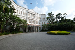 SINGAPORE - APRIL 23: The Raffles Hotel opened in 1899, and is n Royalty Free Stock Photography