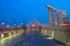 SINGAPORE - APRIL 30:Marina Bay Sands is an integrated resort Royalty Free Stock Photography