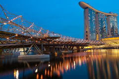SINGAPORE - APRIL 30:Marina Bay Sands is an integrated resort Royalty Free Stock Image
