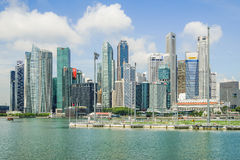 Singapore - APRIL 7,2017: Central Business District CBD Royalty Free Stock Photos